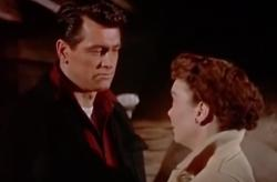 "Rock Hudson and Jane Wyman in ""All That Heaven Allows."""