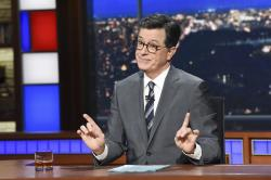 This Nov. 6, 2018 photo released by CBS shows host Stephen Colbert.