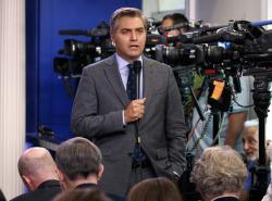 In this Aug. 2, 2018 file photo, CNN correspondent Jim Acosta.