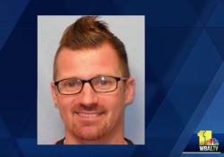 A photo of Brendon Michaels is featured on a news report by WBAL TV11.