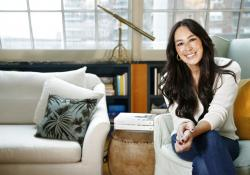 Joanna Gaines poses for a portrait at The Greenwich Hotel in New York.