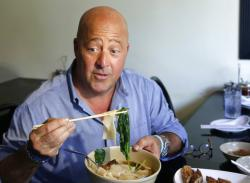 "Travel Channel's ""Bizzare Foods"" host Andrew Zimmern."