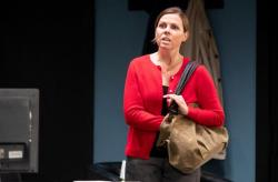 "Jennifer Mischley in the title role of ""Gloria,"" at the Gamm Theatre through December 16."