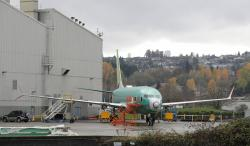 Boeing 737-MAX 8 is parked outside Boeing Co.'s 737 assembly facility in Renton, Wash.