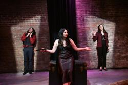 "A scene from ""Vampire Christmas,"" at the EXIT Theatre through December 15."