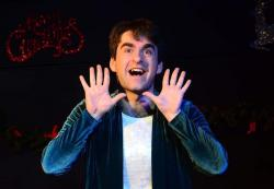 "Aaron Blanck in ""A Christmas to Forget,"" which runs through December 9 at the Epic Theatre Company."