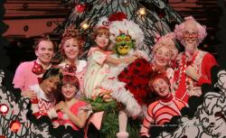 "A scene from ""Dr. Seuss' How the Grinch Stole Christmas,"" currently touring US cities through December 30."