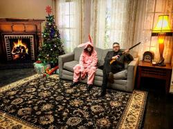 "A promotional photo for the LA-based interactive holiday entertainment ""Happy Holidays Ya' Filthy Animals,"" here featuring ""A Christmas Story."""