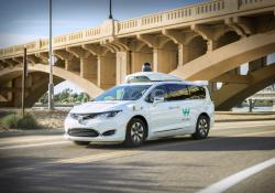 This undated photo provided by Waymo shows its self-driving minivan