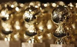 Golden Globe statuettes are displayed during a news conference in Beverly Hills, Calif.