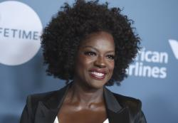 Viola Davis arrives at The Hollywood Reporter's Women in Entertainment Breakfast at Milk Studios.