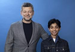 """In this Nov. 28, 2018 photo, Andy Serkis, left, and Rohan Chand pose for a portrait at the Four Seasons Hotel in Los Angeles to promote their film """"Mowgli: Legend of the Jungle,"""" streaming on Nextflix on Friday, Dec. 7"""