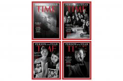 """Time magazine's four covers for the """"Person of the Year."""""""