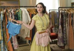 """Rachel Brosnahan in a scene from """"The Marvelous Mrs. Maisel."""""""
