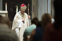 Cardinal Donald Wuerl, Archbishop of Washington, conducts Mass at St. Mathews Cathedral.