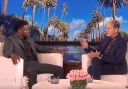 "Kevin Hart talks to Ellen DeGeneres on ""The Ellen DeGeneres Show."""
