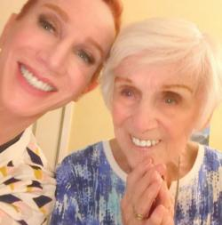 Kathy Griffin, left, with her mother Maggie Griffin, right.