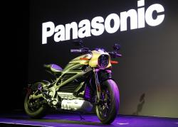 A Harley-Davidson Motorcycles LiveWire electric motorcycle is on display during a Panasonic news conference at CES International, Monday, Jan. 7, 2019, in Las Vegas
