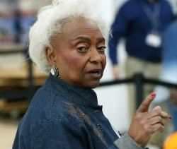 In this Friday, Nov. 16, 2018, file photo, Broward County Supervisor of Elections Brenda Snipes speaks to members of the media after a hand recount, in Lauderhill, Fla.