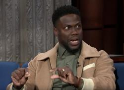 "Kevin Hart appears on ""The Late Show."""