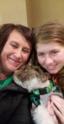 This Friday, Jan. 11, 2019 photo shows Jayme Closs, right, with her aunt, Jennifer Smith in Barron, Wis.