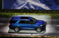 In this Wednesday, Jan. 9, 2019 file photo, the 2020 Ford Explorer is unveiled, in Detroit