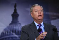 Republican South Carolina senator Lindsey Graham.