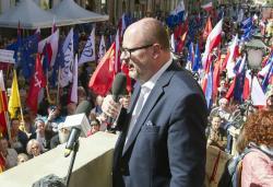 The mayor of Gdansk, Pawel Adamowicz