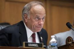 In this June 8, 2018, file photo, U.S. Rep. Steve King, R-Iowa, listens during a hearing on Capitol Hill in Washington