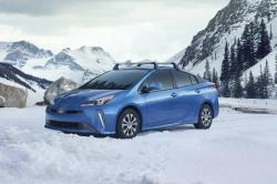 This undated photo provided by Toyota shows the 2019 Toyota Prius AWD-e