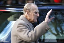 In this Sunday, Dec. 25, 2016 file photo, Britain's Prince Philip.