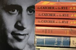 "Copies of J.D. Salinger's classic novel ""The Catcher in the Rye"" as well as his volume of short stories called ""Nine Stories"" at the Orange Public Library in Orange Village, Ohio."