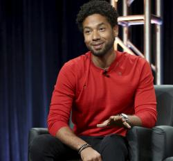 "Jussie Smollett participates in the ""Empire"" panel during the FOX Television Critics Association Summer Press Tour in 2017."