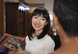"Marie Kondo in a scene from her series ""Tidying Up with Marie Kondo."""