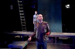 "Julia Atwood and Mauro Hantman in ""Macbeth"" at the Trinity Repertory Company through March 3."