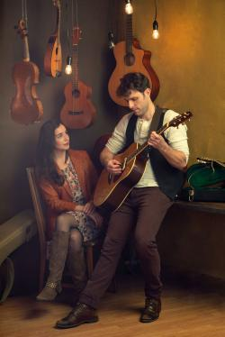 "Mackenzie Lesser-Roy and Nile Scott Hawver in a promotional photo for ""Once,"" coming in March to the SpeakEasy Stage."