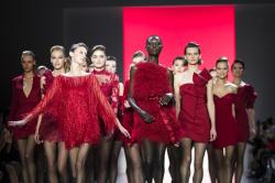 Badgley Mischka collection at NY Fashion Week.