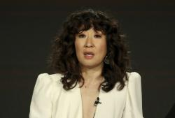 "Sandra Oh participates in the ""Killing Eve"" panel during the BBC America presentation at the Television Critics Association Winter Press Tour at The Langham Huntington on Saturday, Feb. 9, 2019, in Pasadena, Calif. (Photo by Willy Sanjuan/Invision/AP)"
