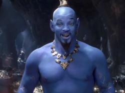 "Will Smith appears as the Genie in the trailer for Disney's ""Aladdin."""