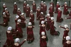 "A scene from the series ""The Handmaid's Tale."""