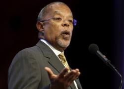 In this Oct. 2, 2013 file photo, Harvard University professor Henry Louis Gates, Jr., addresses the audience during an award ceremony for the W.E.B. Du Bois Medal at Harvard University, in Cambridge, Mass.