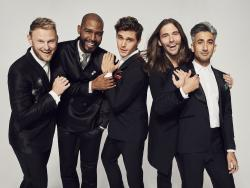Left to Right: Bobby Berk, Karamo Brown, Antoni Porowski, Jonathan Van Ness, Tan France