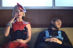 "Katy Perry and Zedd in the music video for ""365."""