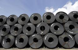 In this June 5, 2018, file photo, rolls of steel are shown in Baytown, Texas