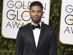 Jussie Smollett arrives at the 73rd annual Golden Globe Awards in Beverly Hills, Calif.