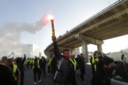 Yellow vest protesters march during a demonstration Saturday, Feb.16, 2019 in Marseille, southern France