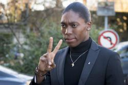 South Africa's runner Caster Semenya, current 800-meter Olympic gold medalist and world champion