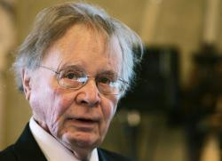 In this Nov. 21, 2008, file photo, Wallace Smith Broecker, a professor in the Department of Earth and Environmental Sciences at Columbia University in New York, addresses the audience during the Balzan prize ceremony in Rome