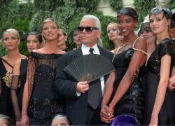 German designer  Karl Lagerfeld (1996).
