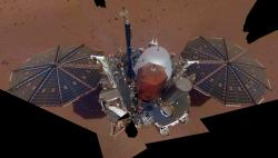 This Dec. 6, 2018 image made available by NASA shows the InSight lander